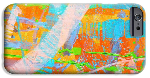 Abstract Expressionism iPhone Cases - Abstract 23614  Diptych  II iPhone Case by John  Nolan