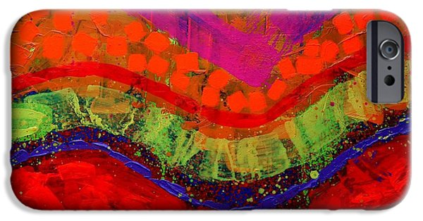 Abstract Expressionism iPhone Cases - Abstract 25614 iPhone Case by John  Nolan