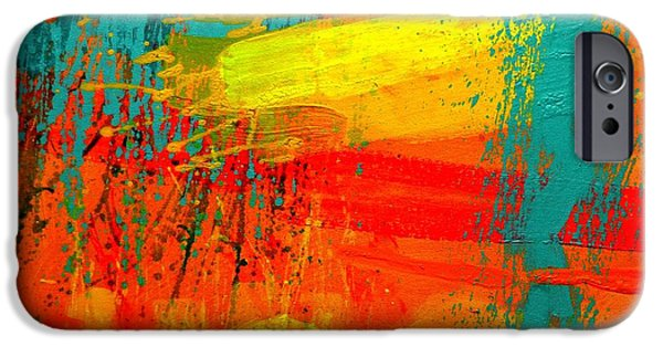 Abstract Expressionism iPhone Cases - Abstract 261114 iPhone Case by John  Nolan