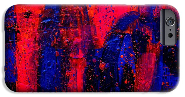 Abstract Expressionism iPhone Cases - Abstract 28115 iPhone Case by John  Nolan