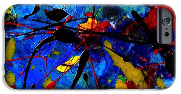 Vibrant Mixed Media iPhone Cases - Abstract 39 iPhone Case by John  Nolan