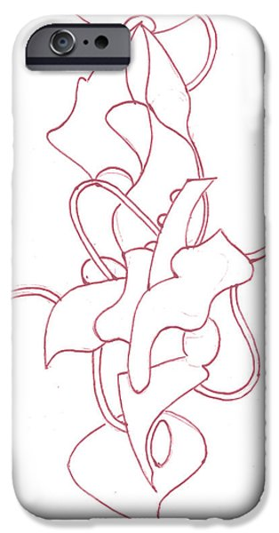 Basic Drawings iPhone Cases - Abstract 4 iPhone Case by Amy Lee