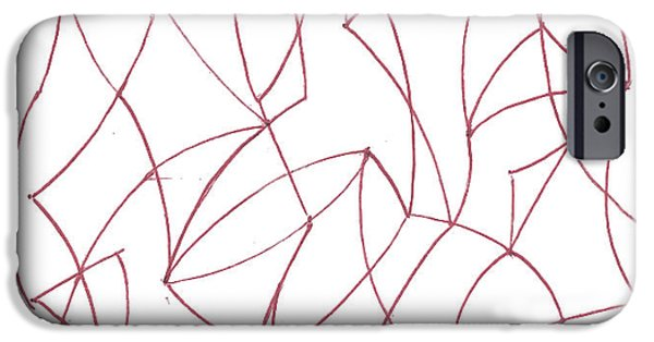 Basic Drawings iPhone Cases - Abstract 5 iPhone Case by Amy Lee