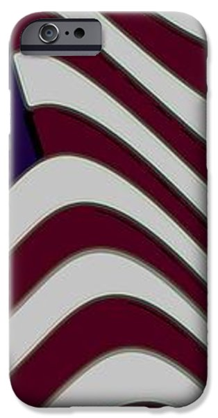 Abstract 50 Star American Flag Flying Enhanced cropped x 2 iPhone Case by L Brown