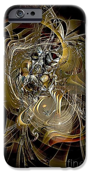 Abstract Forms iPhone Cases - Abstract 521-11-13 marucii iPhone Case by Marek Lutek