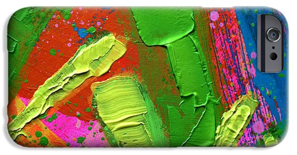 Fine Art Abstract iPhone Cases - Abstract 6814 Diptych Cropped III iPhone Case by John  Nolan