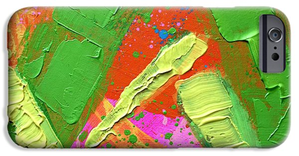 Abstract Expressionism iPhone Cases - Abstract 6814 Diptych Cropped IV iPhone Case by John  Nolan