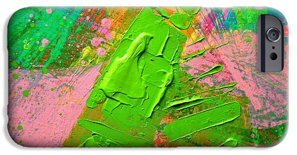 Abstract Expressionism iPhone Cases - Abstract 6814 Diptych Cropped V iPhone Case by John  Nolan