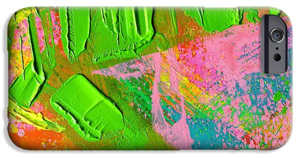 Abstract Expressionism iPhone Cases - Abstract 6814 Diptych  Cropped XII iPhone Case by John  Nolan