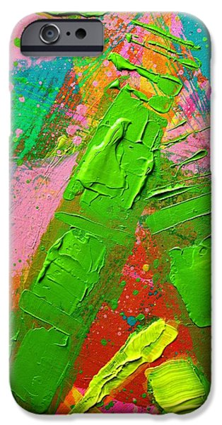 Abstract Expressionism iPhone Cases - Abstract 6814 Diptych Cropped XVII iPhone Case by John  Nolan