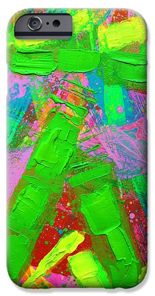 Fine Art Abstract iPhone Cases - Abstract 6814 Diptych  II  iPhone Case by John  Nolan
