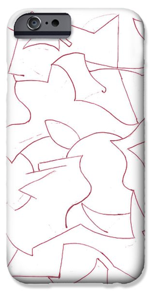 Basic Drawings iPhone Cases - Abstract 8 iPhone Case by Amy Lee
