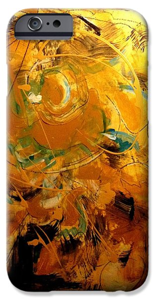Etc. Paintings iPhone Cases - Abstract #8 iPhone Case by Patrick Raffaelo