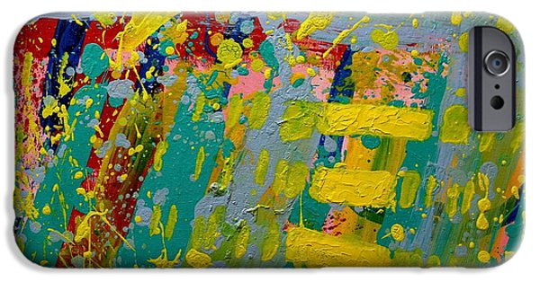 Abstract Expressionism iPhone Cases - Abstract 81014   Cadmium Vibrations iPhone Case by John  Nolan