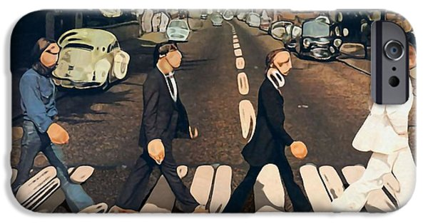 Abbey Road iPhone Cases - Abstract Abbey Road The Beatles iPhone Case by Dan Sproul