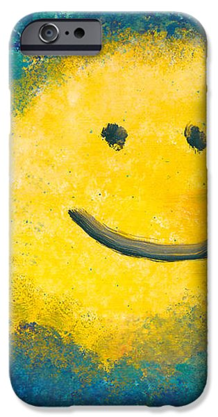 Abstract - Acrylic - Happy abstraction iPhone Case by Mike Savad