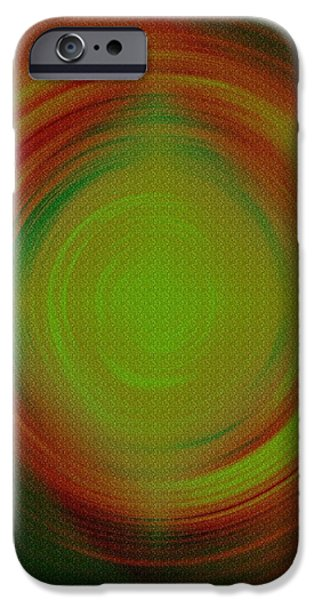 Mandal iPhone Cases - Abstract Art 3 iPhone Case by Sonali Gangane