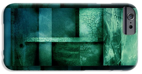 Abstract Digital Art iPhone Cases - abstract art Blue Dream iPhone Case by Ann Powell