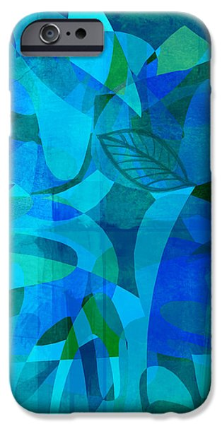 abstract - art- Blue for You iPhone Case by Ann Powell