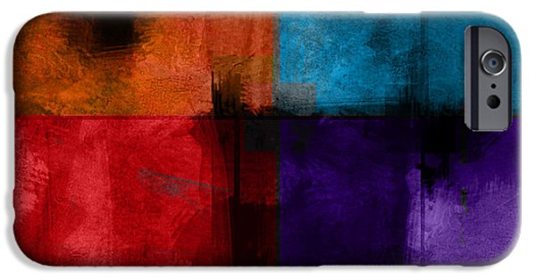 Abstract Digital Art iPhone Cases - abstract - art- Color Block Square iPhone Case by Ann Powell