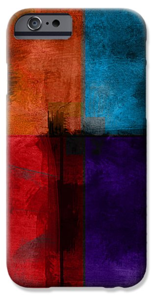 abstract - art- Color Block Square iPhone Case by Ann Powell