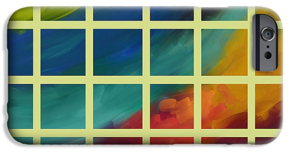 Ann Powell iPhone Cases - abstract - art- Color Study One iPhone Case by Ann Powell