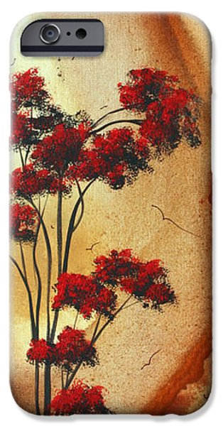 Rust iPhone Cases - Abstract Art Colorful Original Landscape Painting BIRDS ALOFT by MADART iPhone Case by Megan Duncanson