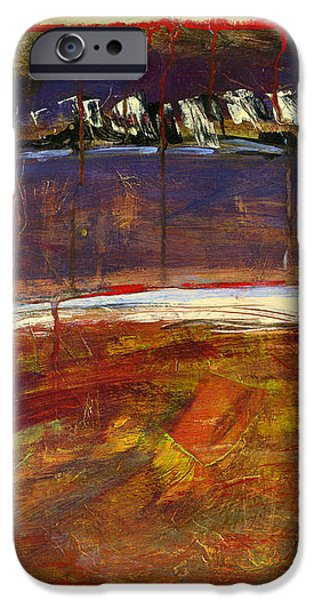 Abstract Art Landscape iPhone Case by Blenda Studio
