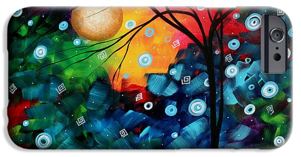 Rust iPhone Cases - Abstract Art Landscape Tree Painting BRILLIANCE IN THE SKY MADART iPhone Case by Megan Duncanson