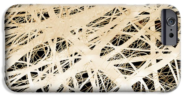 Abstract Digital Art iPhone Cases - abstract- art- Neurons iPhone Case by Ann Powell