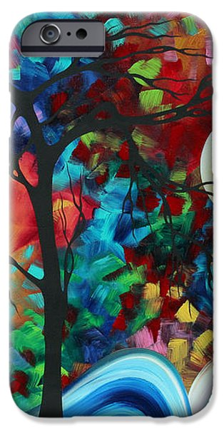 Abstract Art Original Enormous Bold Painting ESSENCE OF THE EARTH I by MADART iPhone Case by Megan Duncanson