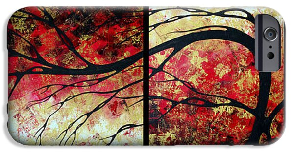 Rust iPhone Cases - Abstract Art Original Landscape Painting BRING ME HOME by MADART iPhone Case by Megan Duncanson