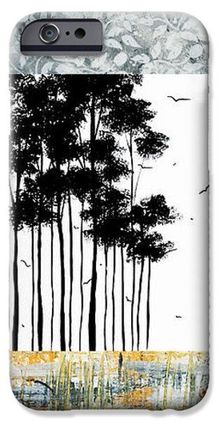 Abstract art Original Landscape Pattern Painting by Megan Duncanson iPhone Case by Megan Duncanson
