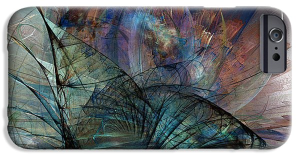 Contemplative iPhone Cases - Abstract Art Print In the Mood iPhone Case by Karin Kuhlmann