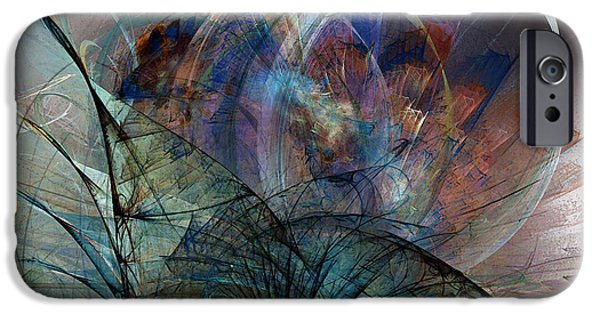 Poetic iPhone Cases - Abstract Art Print In the Mood iPhone Case by Karin Kuhlmann