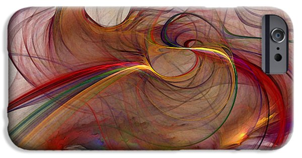 Poetic iPhone Cases - Abstract Art Print Inflammable Matter iPhone Case by Karin Kuhlmann