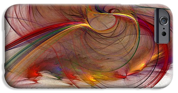 Illustrative iPhone Cases - Abstract Art Print Inflammable Matter iPhone Case by Karin Kuhlmann