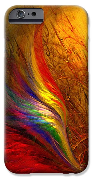 Abstract Expressionism Digital iPhone Cases - Abstract Art Print Sayings iPhone Case by Karin Kuhlmann