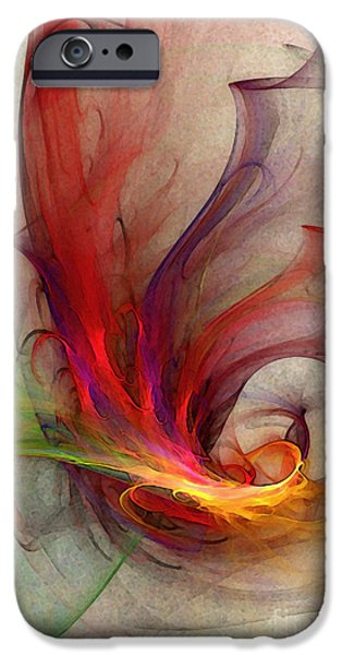 Poetic iPhone Cases - Abstract Art Print Sign iPhone Case by Karin Kuhlmann