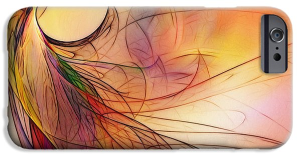Contemplative iPhone Cases - Abstract Art Print Sunday Morning Sidewalk iPhone Case by Karin Kuhlmann