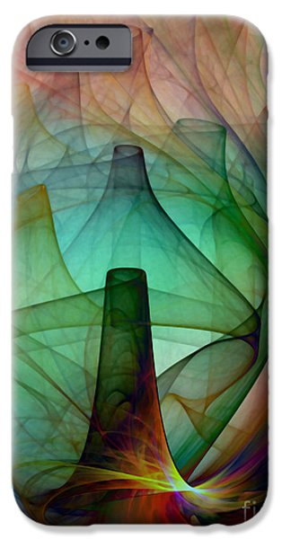 Poetic iPhone Cases - Abstract Art Print Witches Kitchen iPhone Case by Karin Kuhlmann