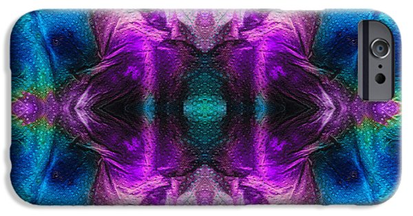 Chakra Paintings iPhone Cases - Abstract Art - Stargazer - By Sharon Cummings iPhone Case by Sharon Cummings