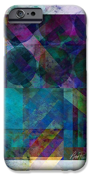 Abstract Digital Digital iPhone Cases - abstract - art - Stripes Five  iPhone Case by Ann Powell