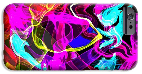 Abstract Digital iPhone Cases - Abstract b iPhone Case by Mary Armstrong
