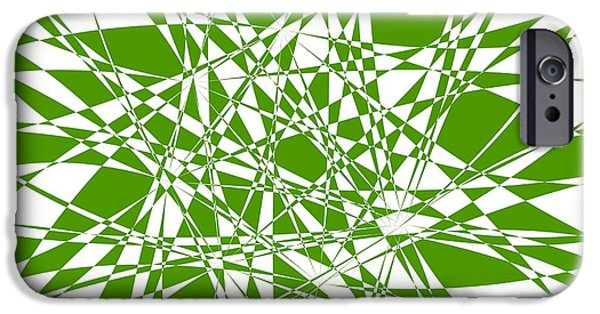 Abstract Digital Tapestries - Textiles iPhone Cases - Abstract Background Green iPhone Case by Jozef Jankola