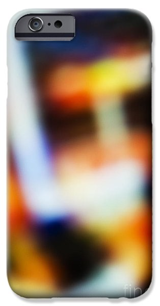 Colorful Abstract iPhone Cases - Abstract Basketball Background iPhone Case by Dan Radi