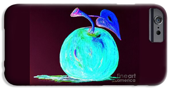 Virtual iPhone Cases - Abstract Blue and Teal Apple iPhone Case by Eloise Schneider