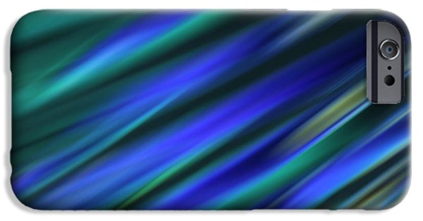 Diagonal iPhone Cases - Abstract Blue Green Diagonal Blur iPhone Case by Marvin Spates