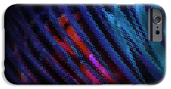 Diagonal iPhone Cases - Abstract Blue Red Green Blur iPhone Case by Marvin Spates