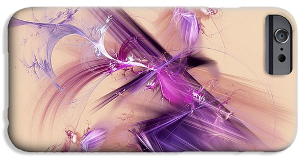 Action Lines Digital Art iPhone Cases - Abstract blurry background iPhone Case by Odon Czintos